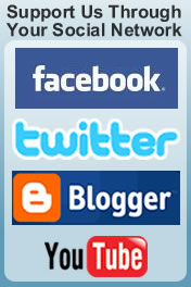 Follow us on facebook, twitter,Blogger and YouTube