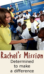 Rachels Mission Determined to make a difference