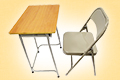 -School desk and chair-